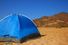 Camping on the beach. Summertime royalty free stock photo