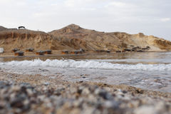 Camping on the beach in Ras Shetan area, Sinai - Egypt Stock Images
