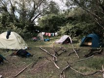 Camping. Beautiful camping life royalty free stock photography
