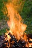 Camping bonfire Stock Photo