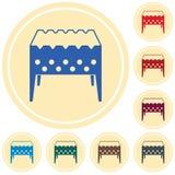 Camping Brazier icon. Vector illustration Stock Photos