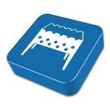 Camping brazier icon. Vector illustration Stock Photo