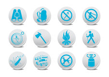 Camping buttons Royalty Free Stock Image