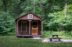 Camping cabin in the park royalty free stock images