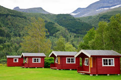 Camping cabins Stock Photo