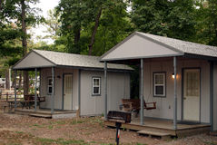 Camping Cabins. Two camping cabins Royalty Free Stock Photography