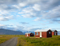 Camping cabins in Iceland Stock Photography