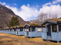 Camping Cabins in the Mountains Stock Photos