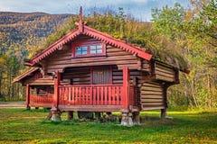 Camping cabins near Hallingskarvet National Park in Norway Stock Photos