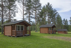 Camping cabins Stock Images