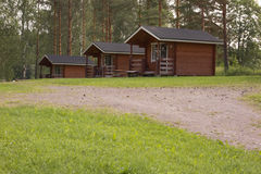 Camping cabins Stock Photography