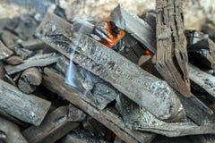 Camping campfire Royalty Free Stock Photo