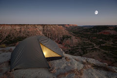 Camping at the Canyon Stock Photography