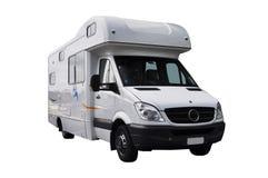 Camping-car de rv d'isolement sur le fond blanc photographie stock libre de droits