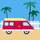Camping-car Illustration de vecteur illustration libre de droits