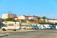 Camping car parking Royalty Free Stock Image