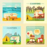 Camping Caravan Set Stock Images