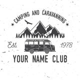 Camping and caravaning club. Vector illustration. Stock Photo