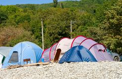 Camping and caravans Royalty Free Stock Photography