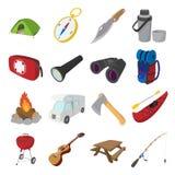 Camping cartoon icons Royalty Free Stock Photo