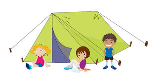 Camping children Royalty Free Stock Image