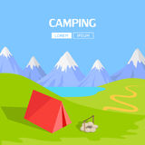 Camping Concept Item Royalty Free Stock Photo