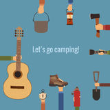 Camping concept Royalty Free Stock Image