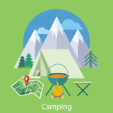 Camping Concept Royalty Free Stock Photo