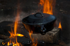 Camping Cooking Royalty Free Stock Photography
