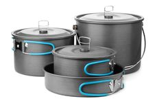 Camping cookware set Royalty Free Stock Photography