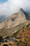 Camping in the Corinthian mountains, Greece Royalty Free Stock Photos