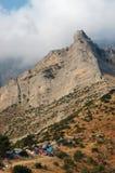 Camping in the Corinthian mountains, Greece royalty free stock photos