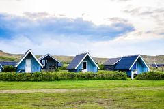 Camping cottages Stock Photography
