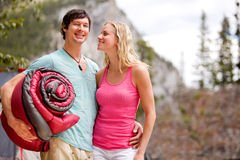 Camping Couple Royalty Free Stock Image