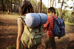 Camping Couple Trek Backpacker Walking Concept Royalty Free Stock Photo