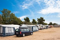 Camping. Croatia Stock Image