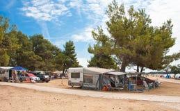 Camping. Croatia Stock Photo