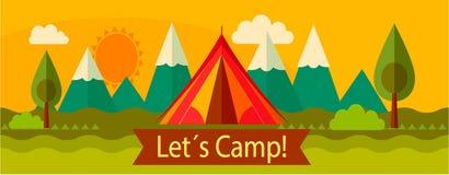 Camping d'aventure, tourisme Photos libres de droits