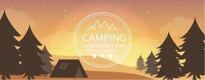 Camping d'aventure, tourisme Photographie stock libre de droits