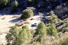 Camping de chasse Image libre de droits