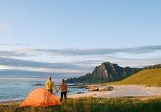 Camping de couples Image stock