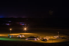 Camping de désert Photo stock