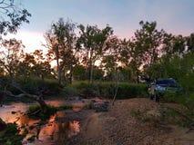 Camping de lit de la rivière Photo stock