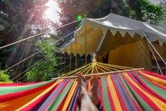 Camping de luxe Images libres de droits
