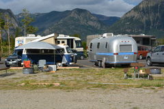 Camping de Microbus et de courant d'air de Volkswagen Photo stock