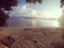 Camping de plage Image stock
