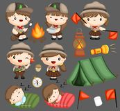Camping de scouts illustration stock