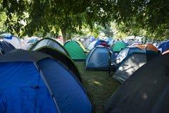 Camping del festival 2015 de la SALIDA Fotografía de archivo