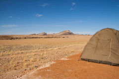 Camping in desert of Namib-Naukluft National Park, Namibia Royalty Free Stock Photos