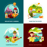 Camping Design Concept Banner Stock Image